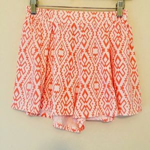 Lucca Couture Elastic Waist Tribal Shorts 036